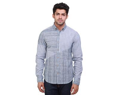 Ishmael two tone printed shirt thumb