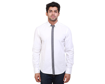 Christian monochrome check shirt thumb