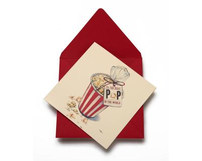 Pop corn greeting card thumb