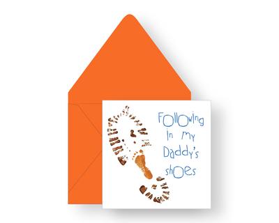 Following my daddy greeting card thumb