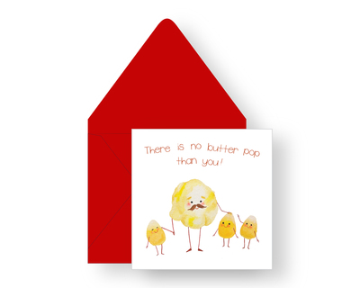 There is no butter pop than you greeting card thumb