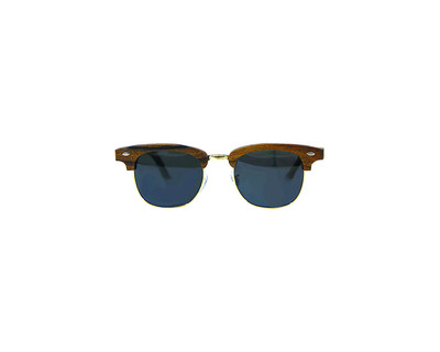 Club master teak wood sunglasses thumb
