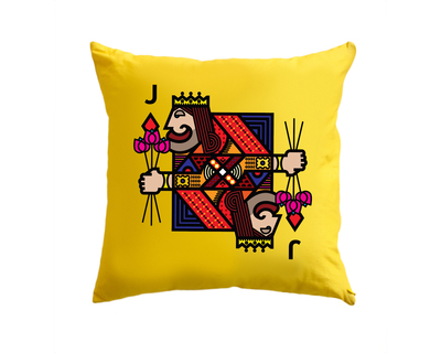 Jack of diamonds yellow cushion cover thumb