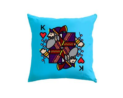 King of hearts blue cushion cover thumb