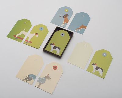 Pawsome gift tags box of 12 thumb