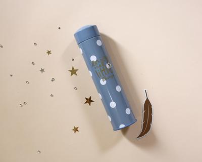 Tin pencil case blue thumb