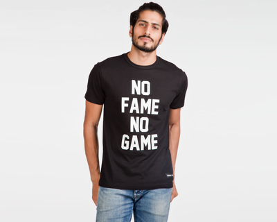 No fame no game black t shirt thumb