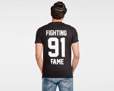 Fighting fame 91 black home football jersey thumb