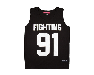 Fighting fame 91 silver foil vest thumb