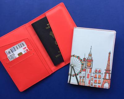London paris new york skyline passport cover thumb