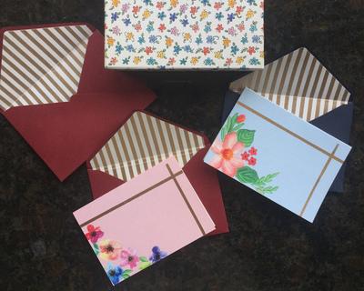 Floral notecard set thumb