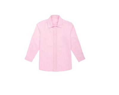 Pink pintuck boys shirt thumb