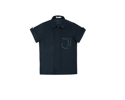 Blue corduroy boys shirt thumb