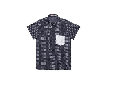 Blue polka dot boys shirt thumb