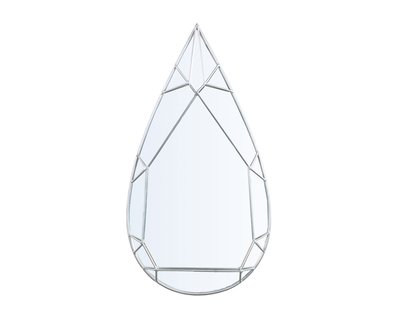 Teardrop diamond mirror thumb