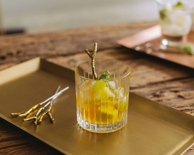Branch brass dripped cocktail picks thumb