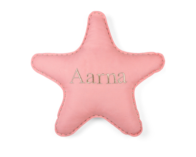 Personalised star pillow coral thumb