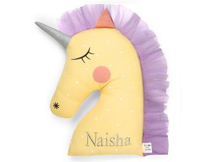 Personalised ella the unicorn mini plushie thumb