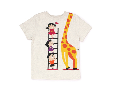 The giraffe tee thumb