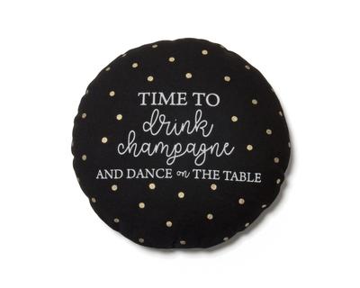 Time to drink champagne mini plushie black thumb