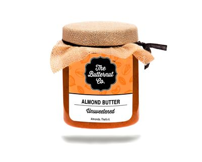Unsweetened almond butter 220 grams thumb