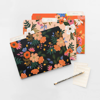 Floral file folder set of 6 small