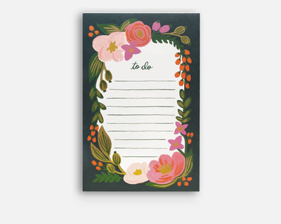 Floral roslie to do notepad thumb