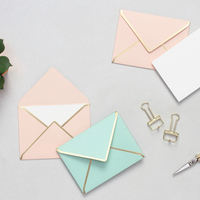 Mini notecards with envelopes personalalized stationery blush mint small