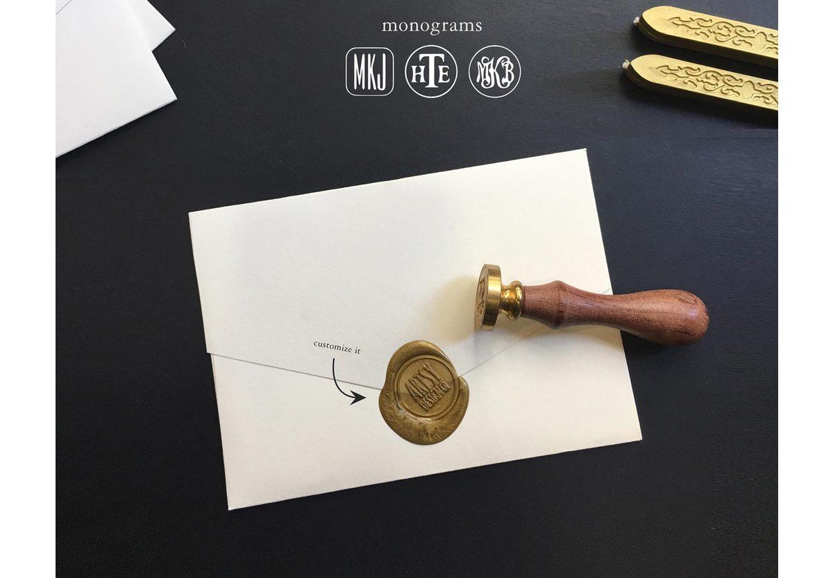 Natty Custom Monogram Wax Seal Stamp