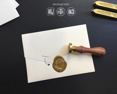Custom wax seal stamp thumb