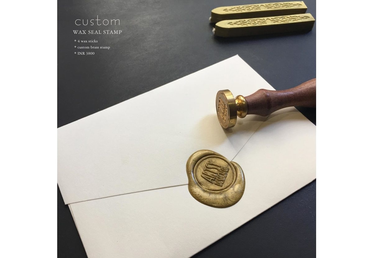 Custom Monogram Wax Seal Stamp