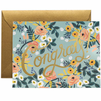 Blue meadows congrats card small