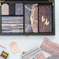 Pastel marbled lacquered boxed set small