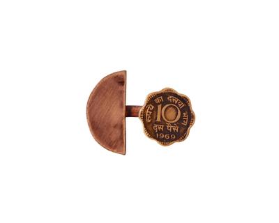 10 paisa copper semicircle split ring 1 thumb