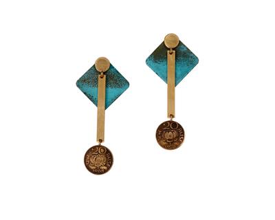 20 paisa linear c square earjackets thumb