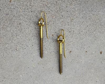Screwed 2 earrings thumb