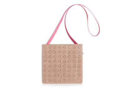Nude square clutch x sling bag thumb