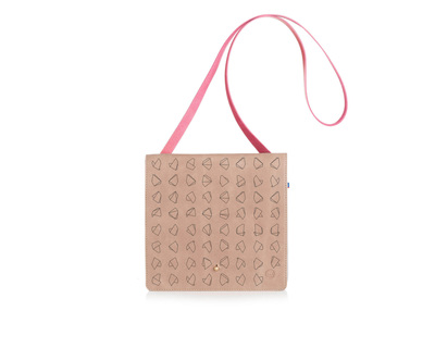 Nude square clutch x sling bag thumb