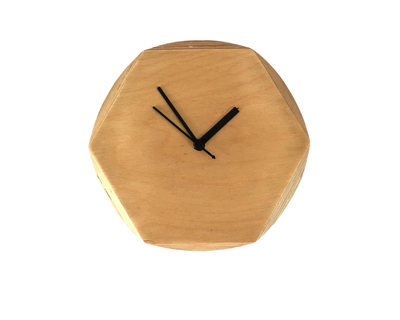 Circle hexagon clock thumb