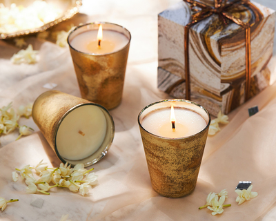 Crescent candle ivory thumb