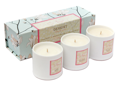 Dessert collection set of 3 soy candles thumb