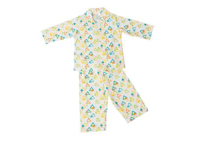 Colorful triangles pajama set thumb