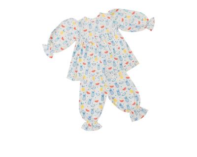 Colorful fruits pajama set for baby girls thumb