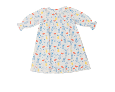 Colorful fruits night gown for baby girls thumb