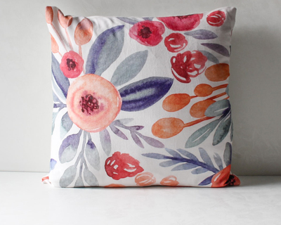 Priscilla floral print cushion cover thumb
