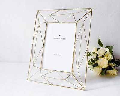 Angular golden photo frame 4 x 6 thumb