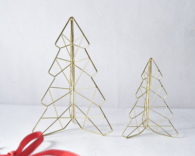 Decorative golden christmas tree thumb