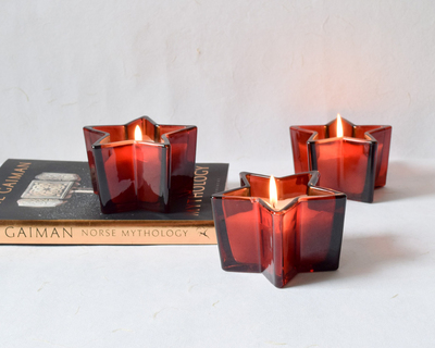 Starburst red wine candles set of 3 thumb