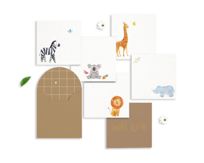 Animal gift cards set of 5 thumb