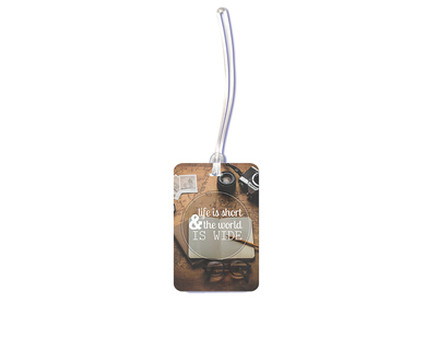 Life is short luggage tag thumb